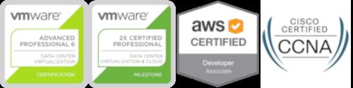 VMware Certs, AWS Certified Developer & CCNA